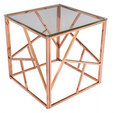 Журнальный столик Арт Деко розовое золото