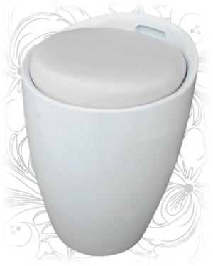 Табурет 1100 белый с местом для хранения