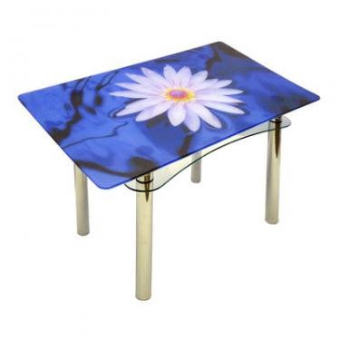 Стол из стекла Ян-1 ТрМр-Б (флора 50)