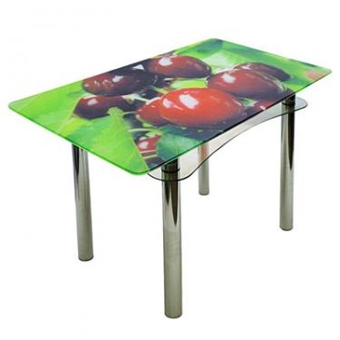 Стол из стекла Ян-1 ТрМр-Б (fruit26)