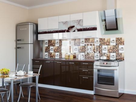 Кухня Кофе глянец с фотопечатью 2 м