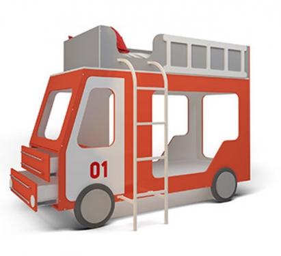 Пожарная машина МДФ с ящиками