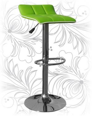 Барный стул 5014 зеленый с белым