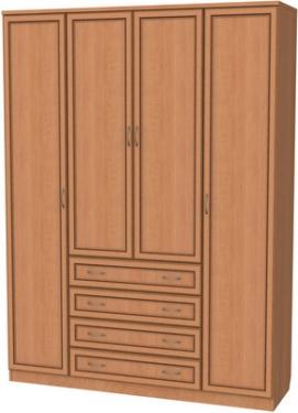 Шкаф для белья со штангой, полками и ящиками 110