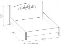 Кровать ADELE 5