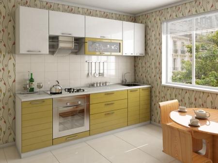 Кухонный гарнитур САКУРА зеленое яблоко