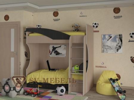 Кровать 2-ярусная Детская Бемби-4