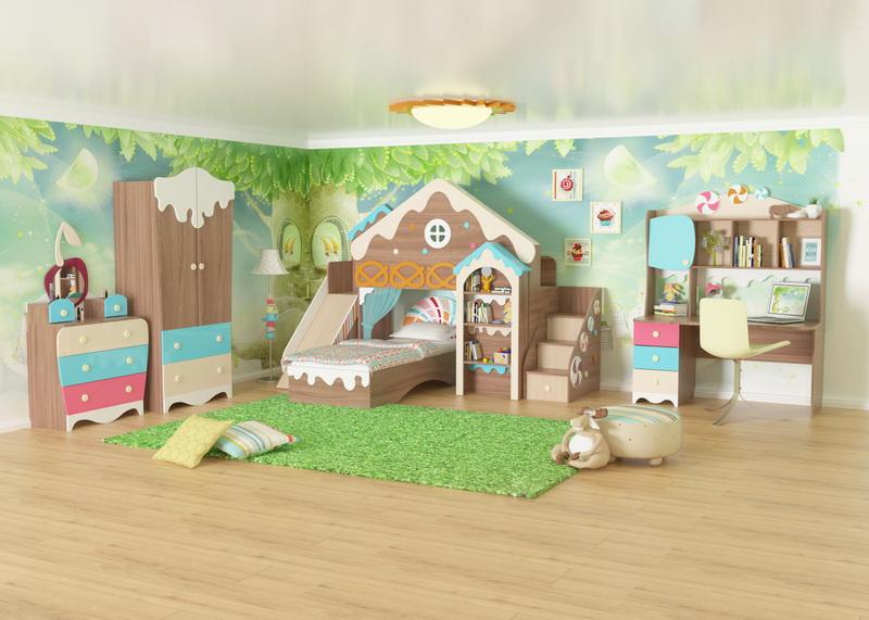 Модульная детская Пряничный домик №3