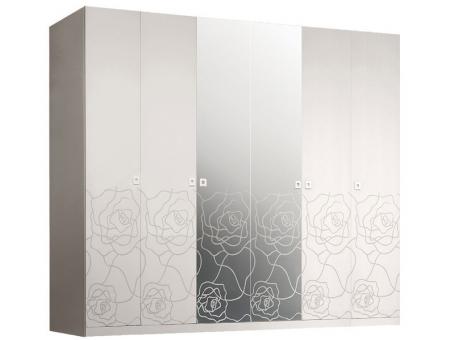Шкаф 6-створчатый с зеркалами Роза
