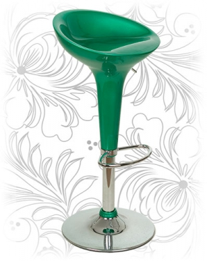Барный стул BOMBA Зеленый металлик