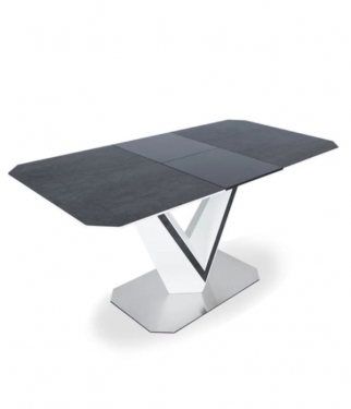 Стол Марго 140(185)*85 керамический серый