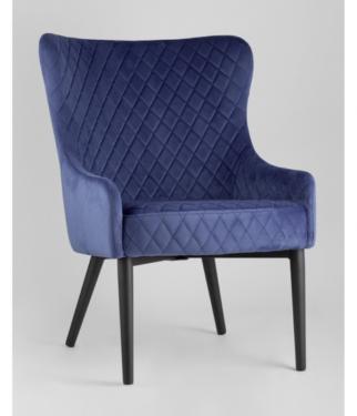 Кресло Ститч, вельвет королевский синий