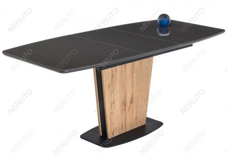 Стол на тумбе Oliver дуб антор натуральный / графит