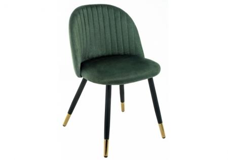 Стул Гави темно-зеленый, ноги с декором